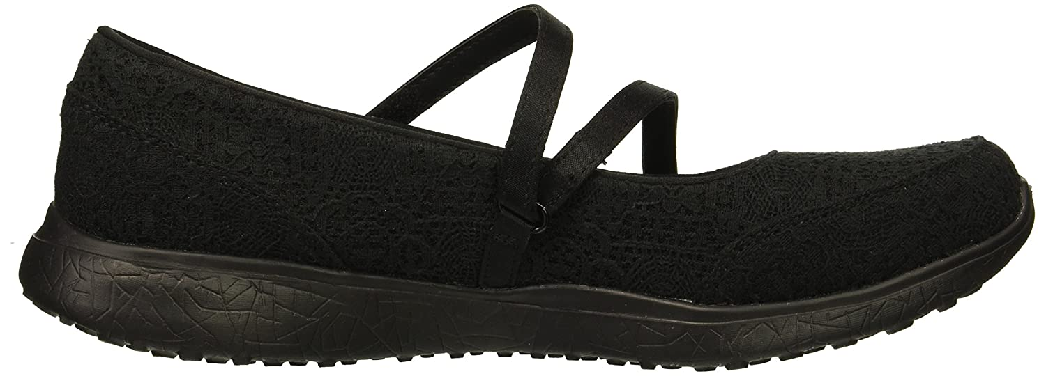 Skechers Microburst-Pure Cleanse, Mary Janes Femme, (Black), 36 EU