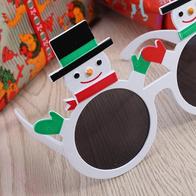 12 x Occhiali da sole di Natale Novità Natale Costume divertente calza riempitivo Occhiali