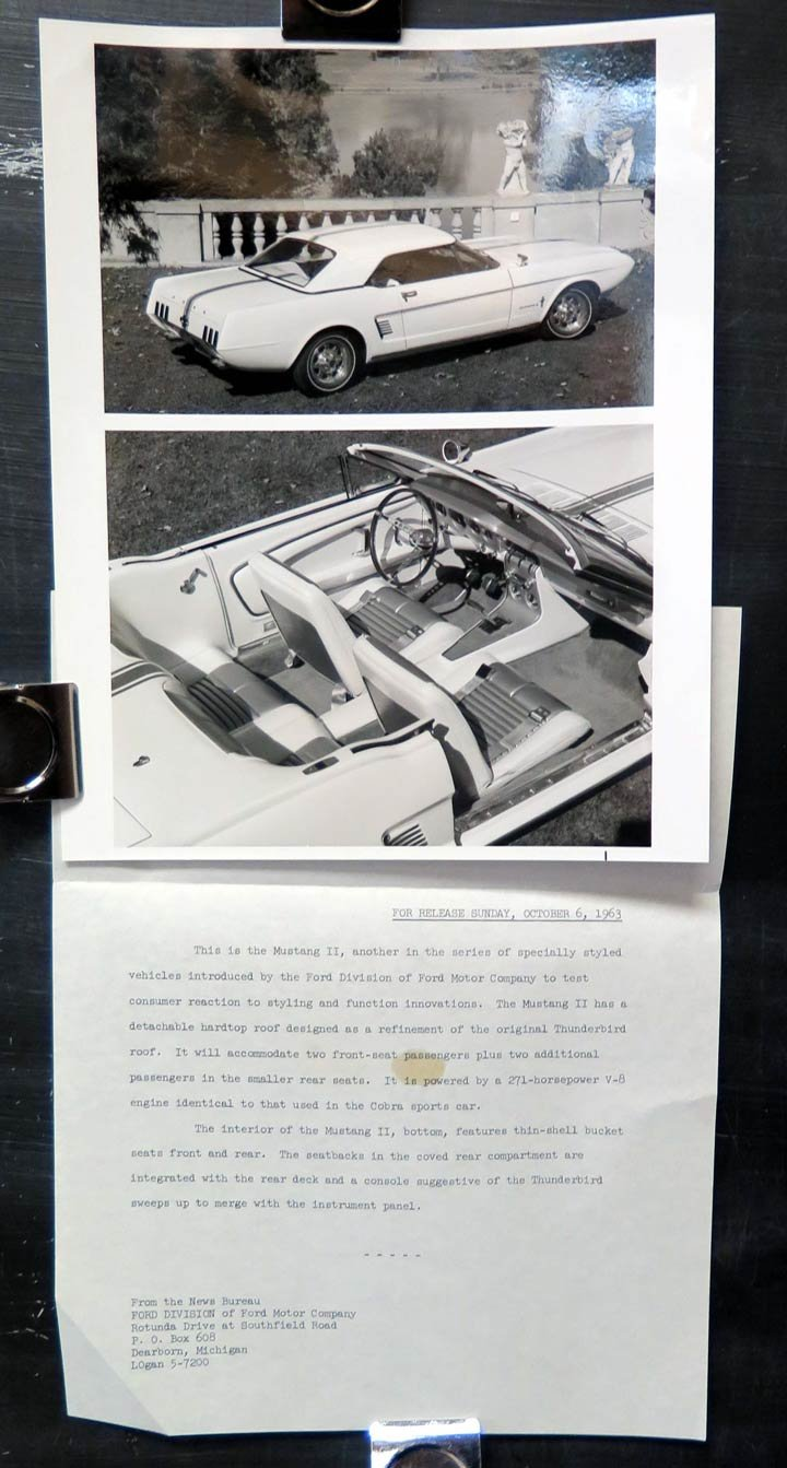 1963 1964 Ford Mustang Ii Concept Experimental Factory Brochure Press Kit Entertainment Collectibles