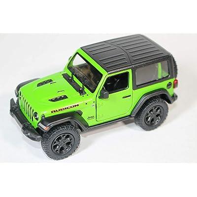 2018 Jeep Wrangler Rubicon Hard Top Green - Kinsmart P/B: Toys & Games