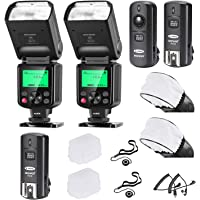 Neewer 2 Packs i-TTL Flash Kit Compatible with Nikon D7100 D7000 D5300 D5200 D5100 D5000 D3200 D3100 D3300 D90 D800 D700…