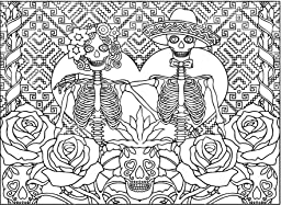 Amazon Com Creative Haven Day Of The Dead Coloring Book