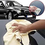 """ZHUOTOP 1 Piece Natural Shape 20""""x28"""" Suede Leather Car Cleaning Cloth Washing Full Absorbent Towel"""