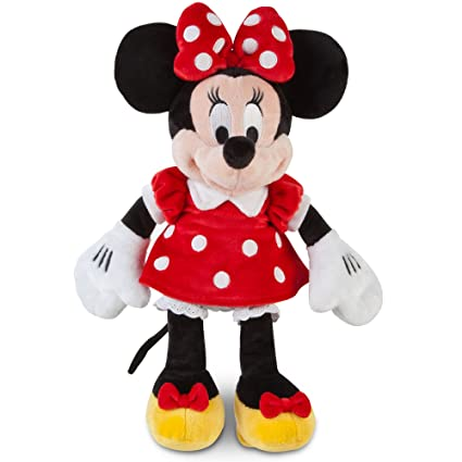 Disney Minnie Mouse Plush 12 In A Red Dress