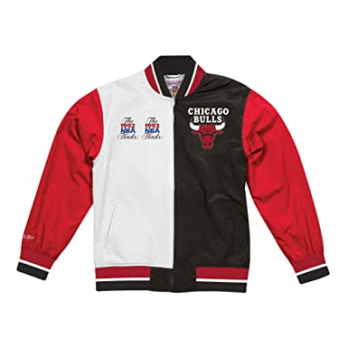 Mitchell & Ness Team HIstory Warm Up Jacket at Amazon Mens Clothing store: