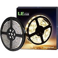 LE 5M LED Strip, IP65 wasserfest LED Streifen, Warmweiß Lichtkette 12V mit 300 LEDs, 2835 SMD Flexible LED Band, ideal für Decke, Deko, Küche, Innenraum usw.