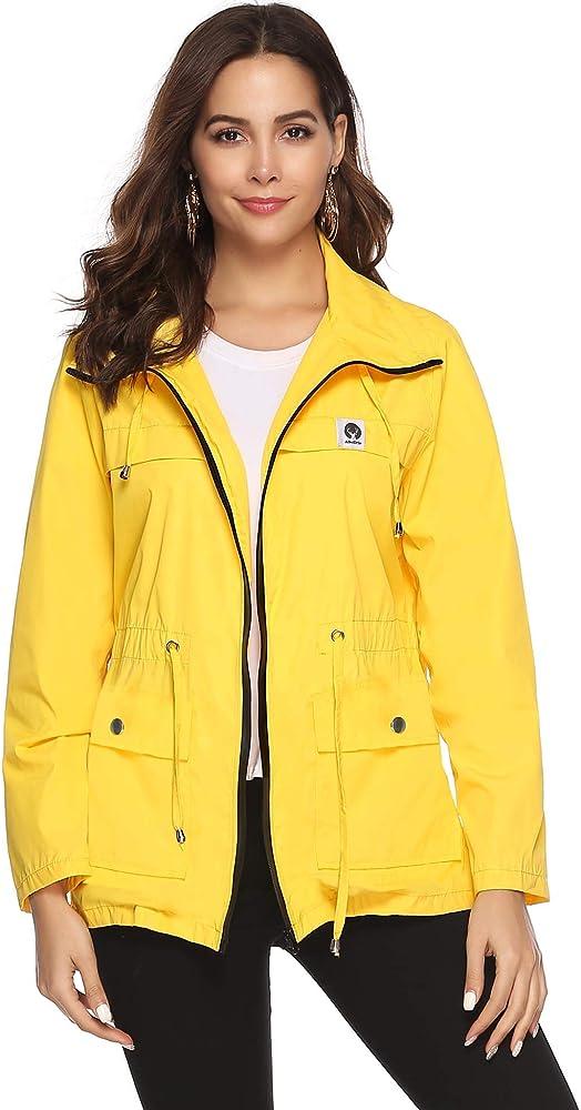 Gabardina lluvia chaqueta señora amarillo talla 46 clima chaqueta impermeable función chaqueta