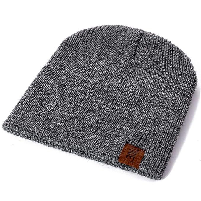 1 Pcs Hat PU Letter True Casual Beanies for Men Women Warm Knitted Winter Hat Fashion Solid Hip-hop Beanie Hat Unisex Cap (Black, 54cm-60cm) at Amazon Mens ...
