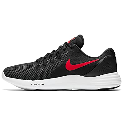 NIKE MENS NIKE LUNAR APPARENT BLACK RED ANTHRACITE WHITE SIZE 6.5