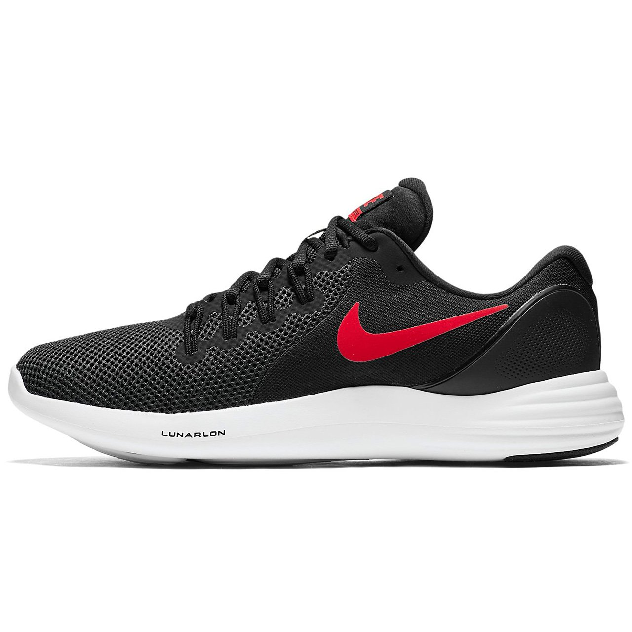 NIKE Lunar Apparent Mens Running Shoes B06WGPNYKJ 12 D(M) US|Black Red Anthracite White