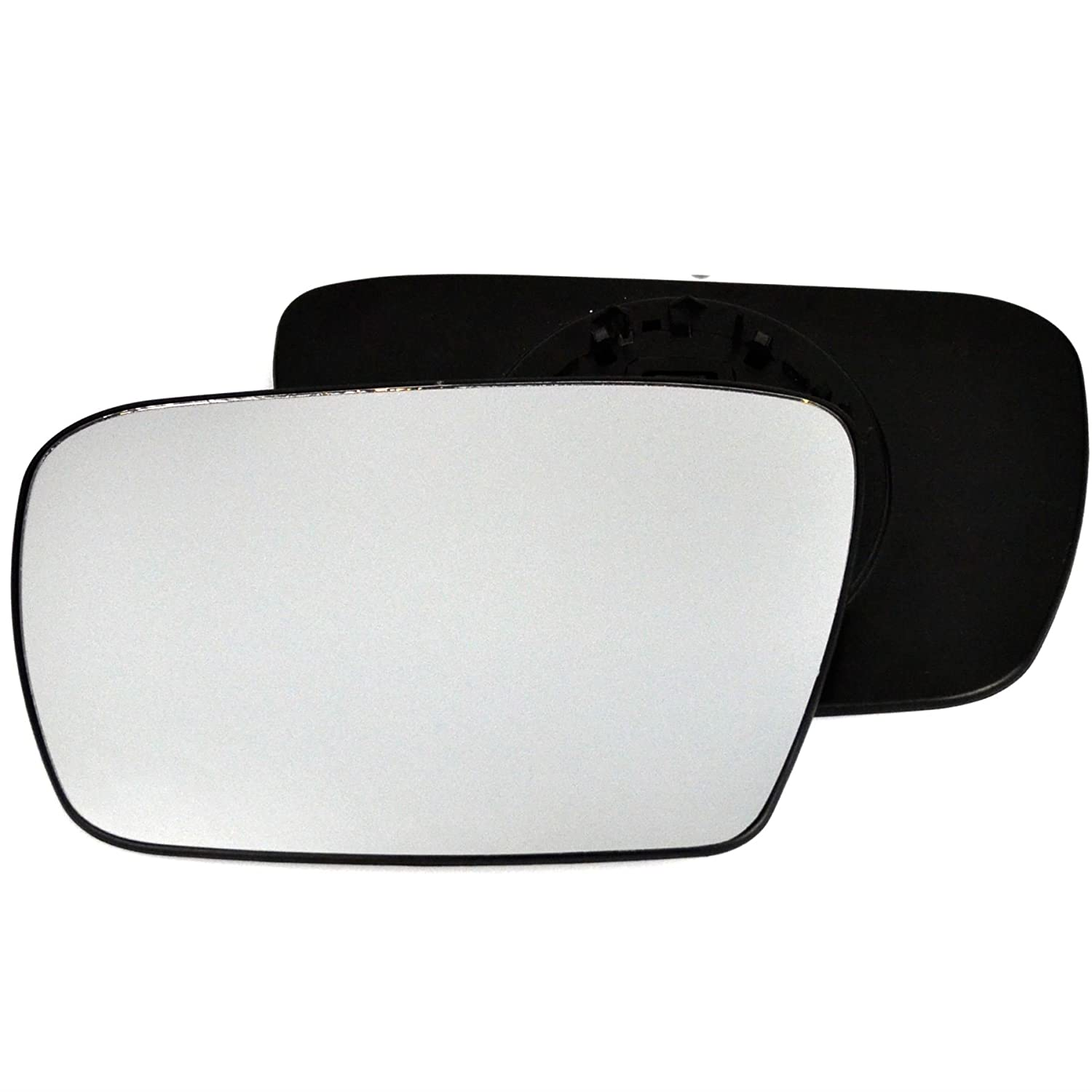 Clip On Passenger left hand side Heated wing door Silver mirror glass with backing plate #C-SHY//L-JPCE01