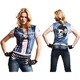 Yijja Fast Fun - Hellgirl, camiseta de manga corta para adultos ...