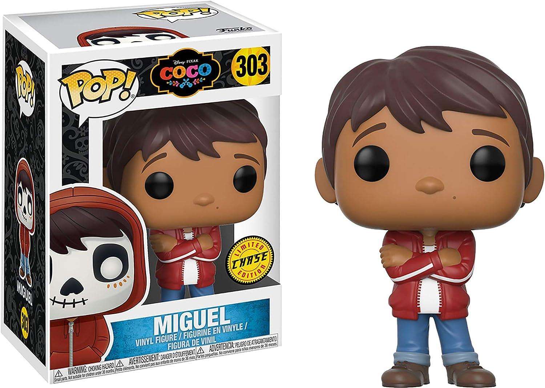 Disney Pixar Coco Funko Pop! Miguel CHASE # 303 + Pop Protector ...