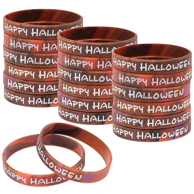 Amazon.com: 48 pulseras de silicona para Halloween, de goma ...