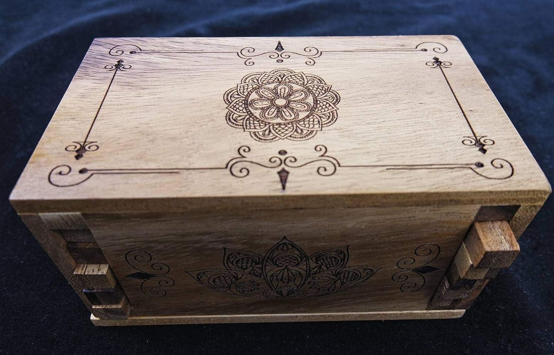 Secret Lock Box I - premium with Mandala laser engraved artwork