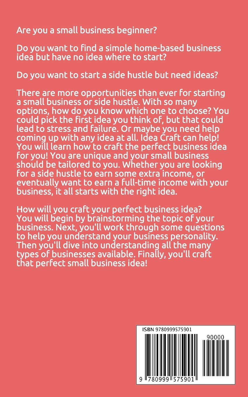 Idea Craft Discover The Best Small Business Idea For You Sarah