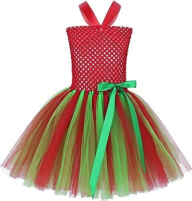 iiniim Vestido Rojo Niña Halloween Tutú Princesa Falda Bowknot ...