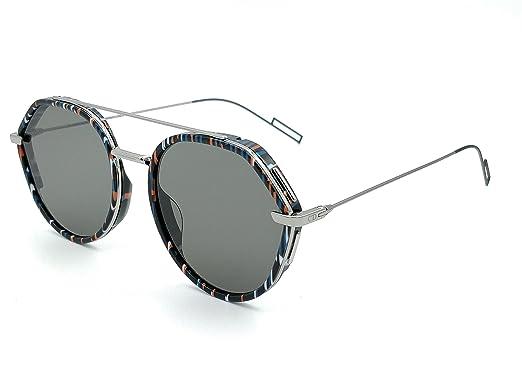 7c92e20572 Lunettes de Soleil Dior DIOR 0219S STRIPED BLACK/GREY homme: Amazon ...