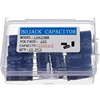BOJACK 2200uF 16V 10x20mm Condensadores 2200 MFD 16
