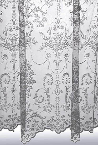 John Aird Victoria Lace Curtain Finished In Cream//Ivory ~ Width Sold By The Metre 40-102cm