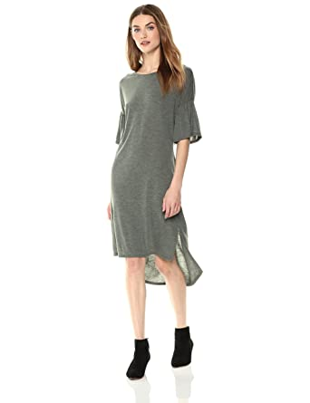 0b64f9269f7 Painted Heart Women s Bell-Sleeve Sweater-Dress with Back Twist Detail  X-Small
