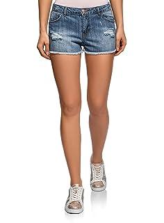 Demon&Hunter 601 Shorts Series Mujer Pantalones Vaqueros ...