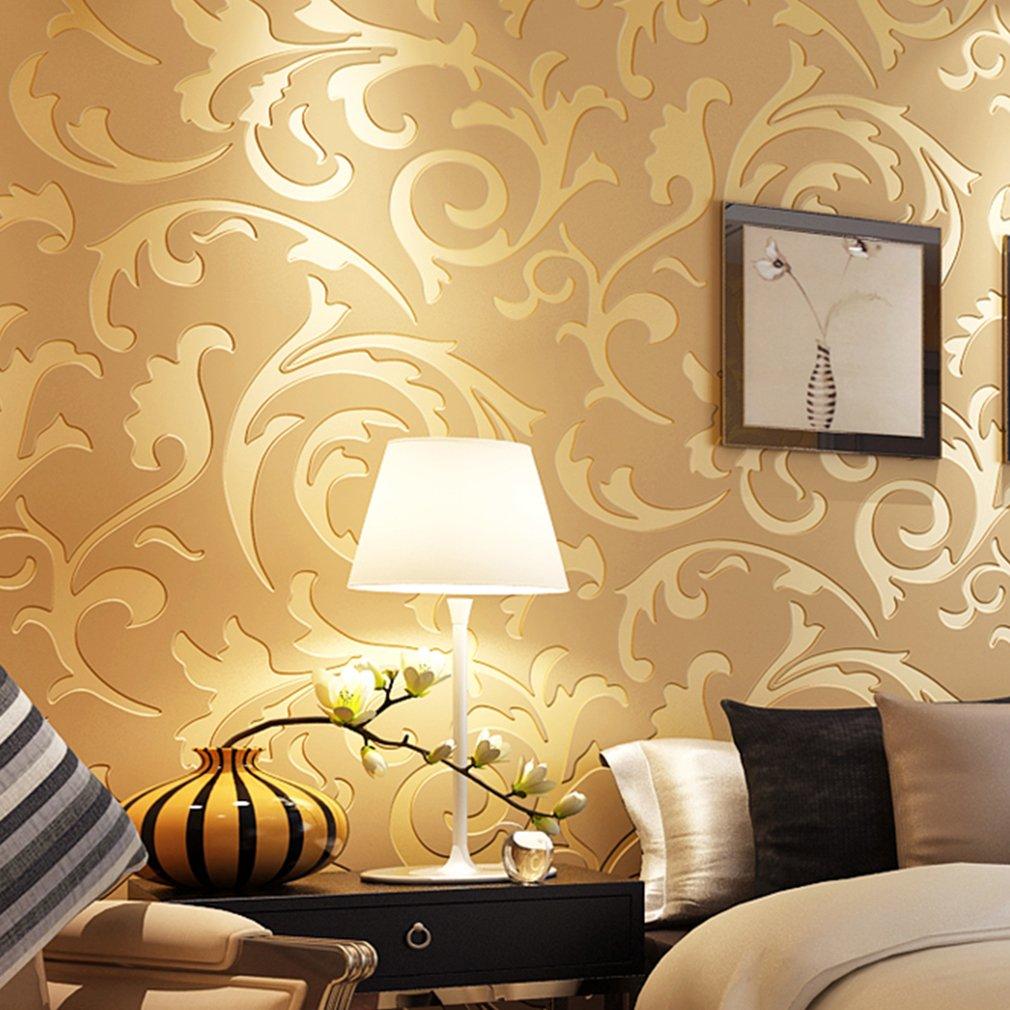 Trendy source Embossed Textured Wallpaper, Modern 3d Non-Woven ...