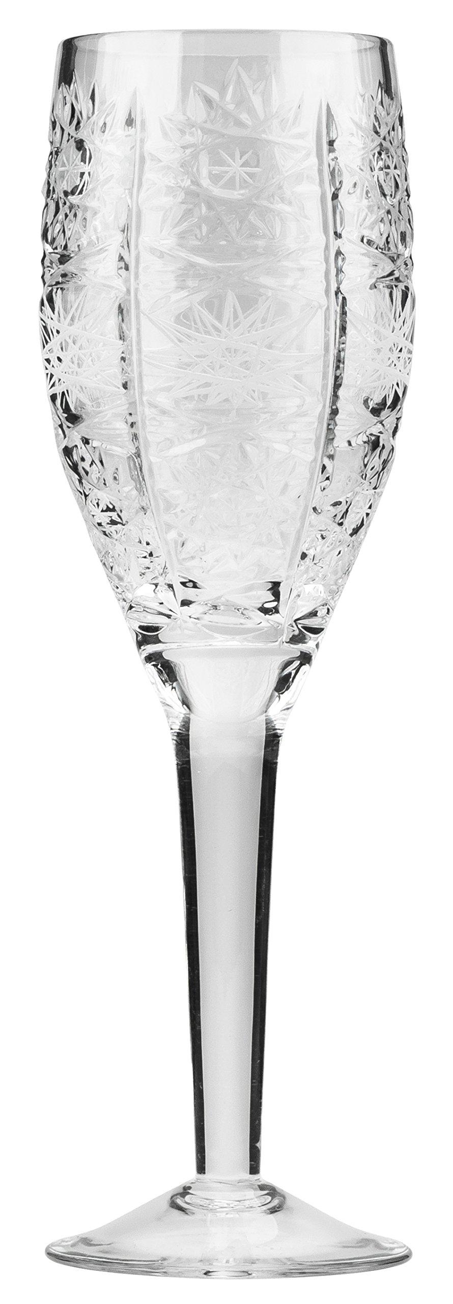 Bohemia Crytal WG7110/11, 2-Oz/60ml Crystal Cut Shot Glasses, Vodka Liquor Handmade Glassware, Vintage Drinkware, Set of 6