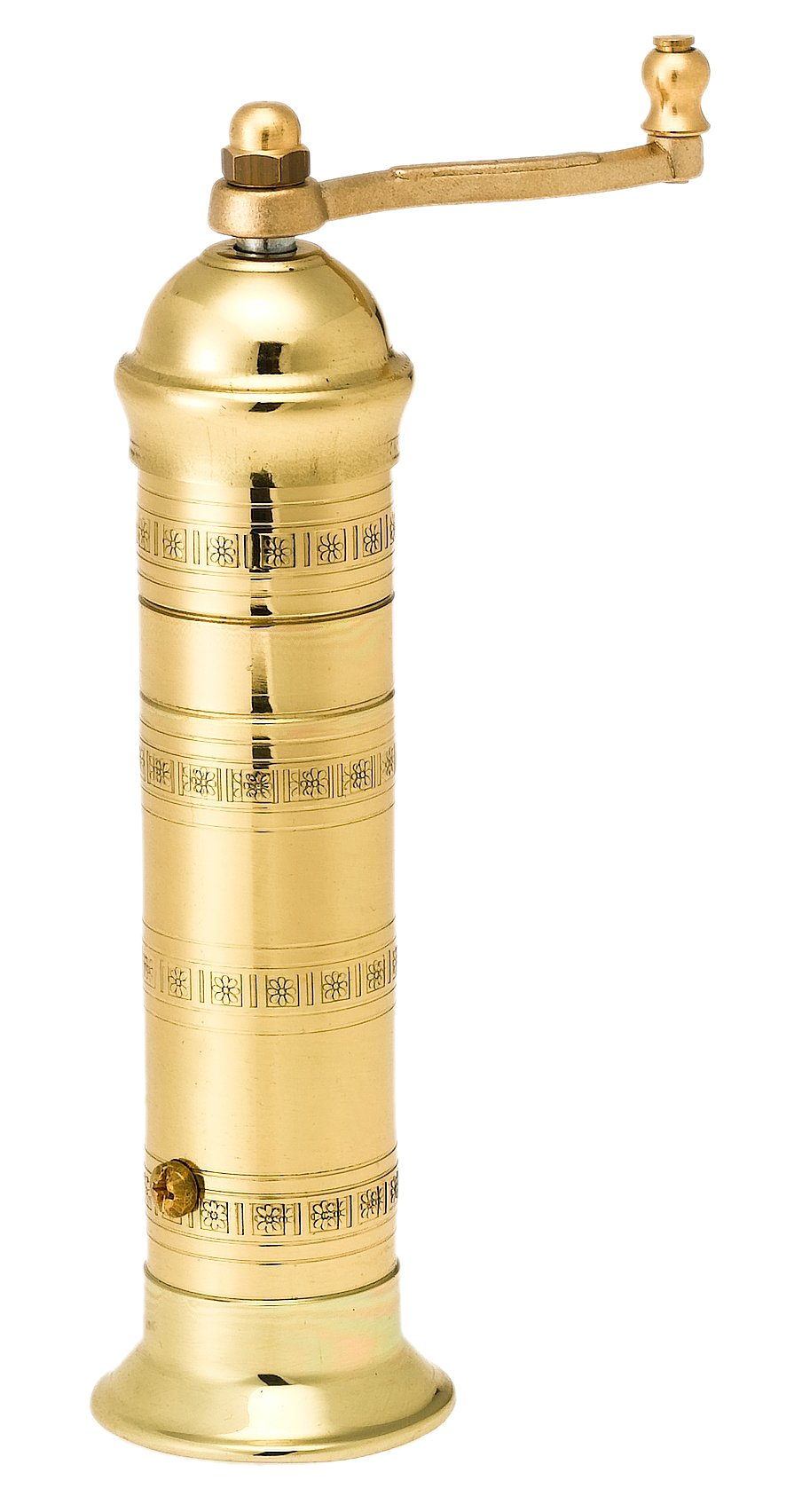 Pepper Mill Imports Atlas Pepper Mill, Brass, 7.5'' by Pepper Mill Imports