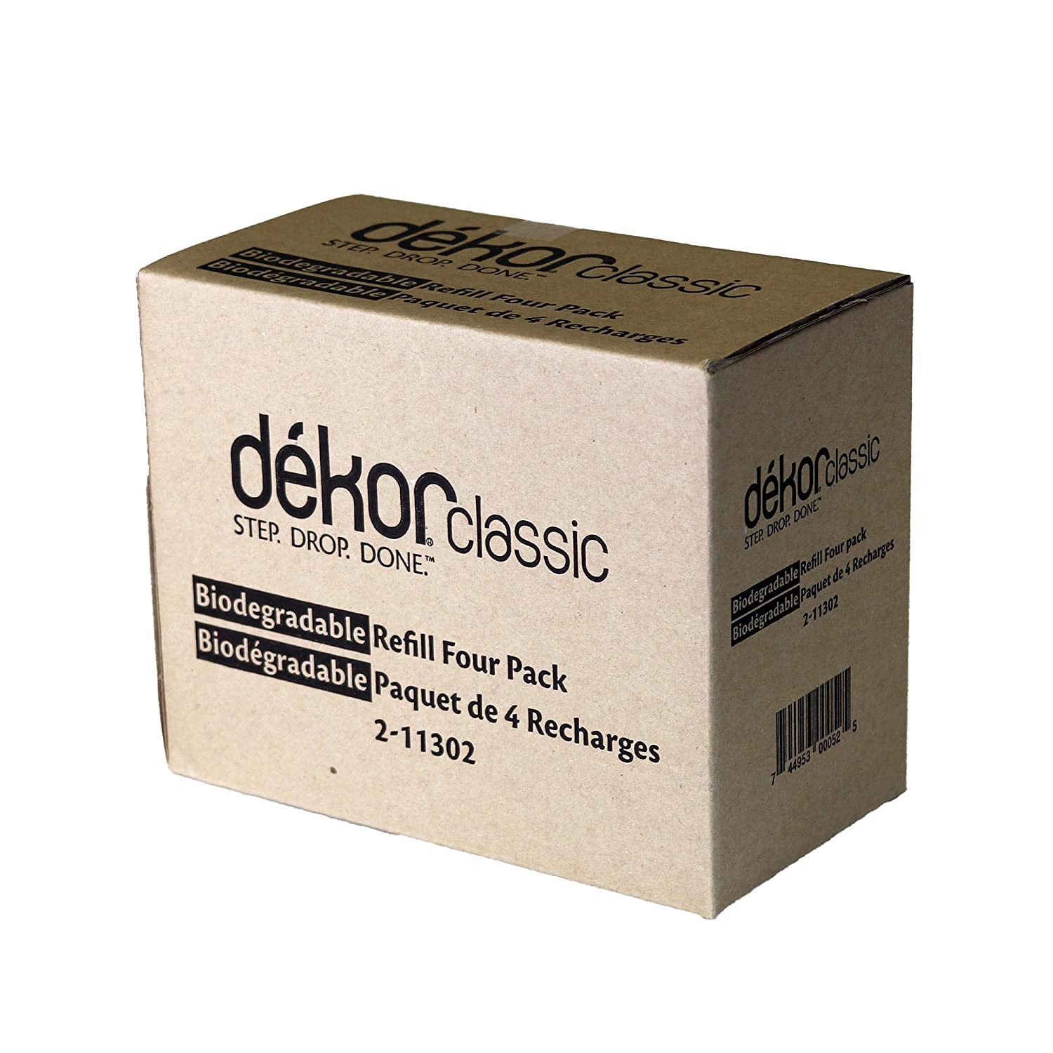 Dekor Classic Diaper Pail Biodegradable Refills | Most Economical Refill System | Quick and Simple to Replace | No Preset Bag Size – Use Only What You Need | Exclusive End-of-Liner Marking | 4 Count 4332391503