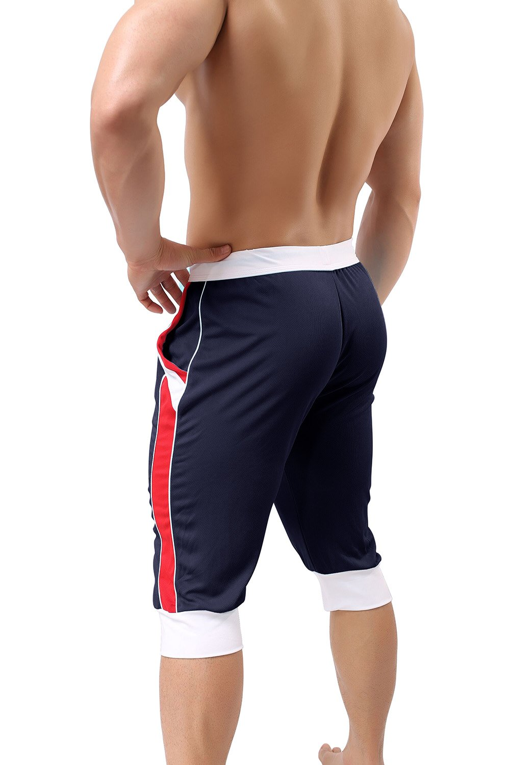 FASKUNOIE Mens Workout Running Shorts Super Breathable Mesh Shorts with Pockets
