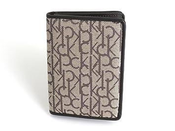 Calvin Klein Porte Cartes De Visite Et Carte Crdit En Cuir Tissu Jacquard