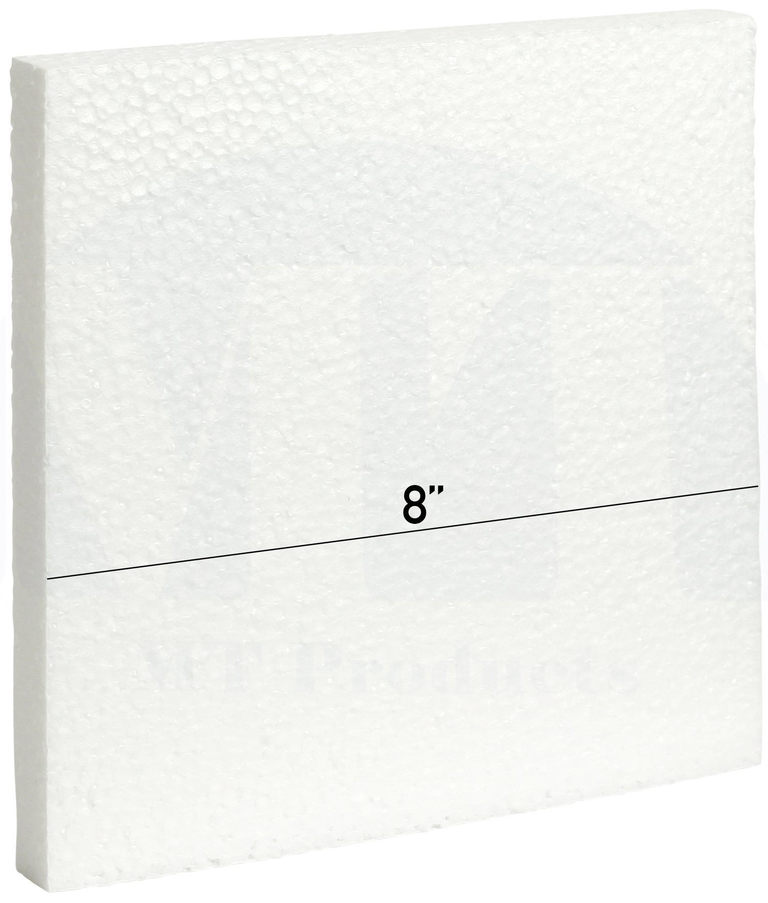 MT Products White EPS Foam Craft Pad/Sheet 1/2 in Thick (8 in x 8 in x 1/2)(10 Pieces)