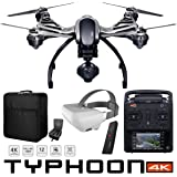 Yuneec Typhoon 4K Q500 RTF Hexacopter Drone Sky Command Bundle with CGO3 4K UHD Camera ST10+ Controller Wizard Wand SkyView FPV Display Headset and Custom Backpack