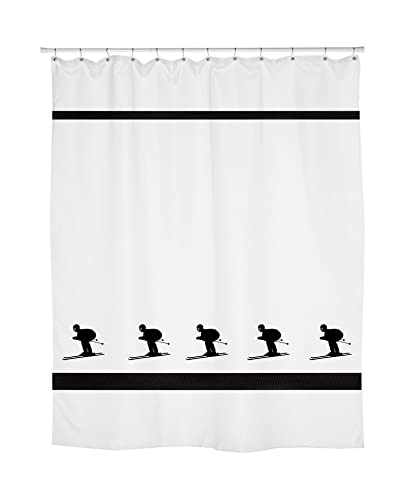 Amazon Downhill Skier Skiing Shower Curtain