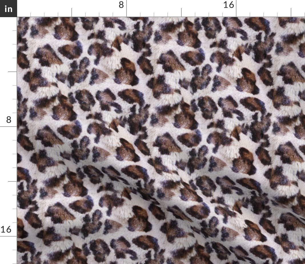 Amazon.com: Roostery Leopard Organic Sateen Throw Pillow ...