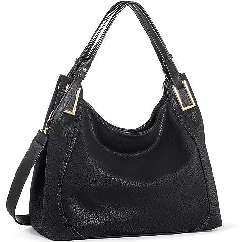 1a156cb128 JOYSON Women Handbags PU Leather Shoulder Bags Top-Handle Satchel Tote Bags  Purse Black