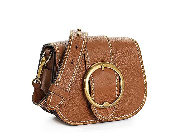 c2dc24af Polo Ralph Lauren Stitched Lennox Leather Crossbody Bag (Cognac ...