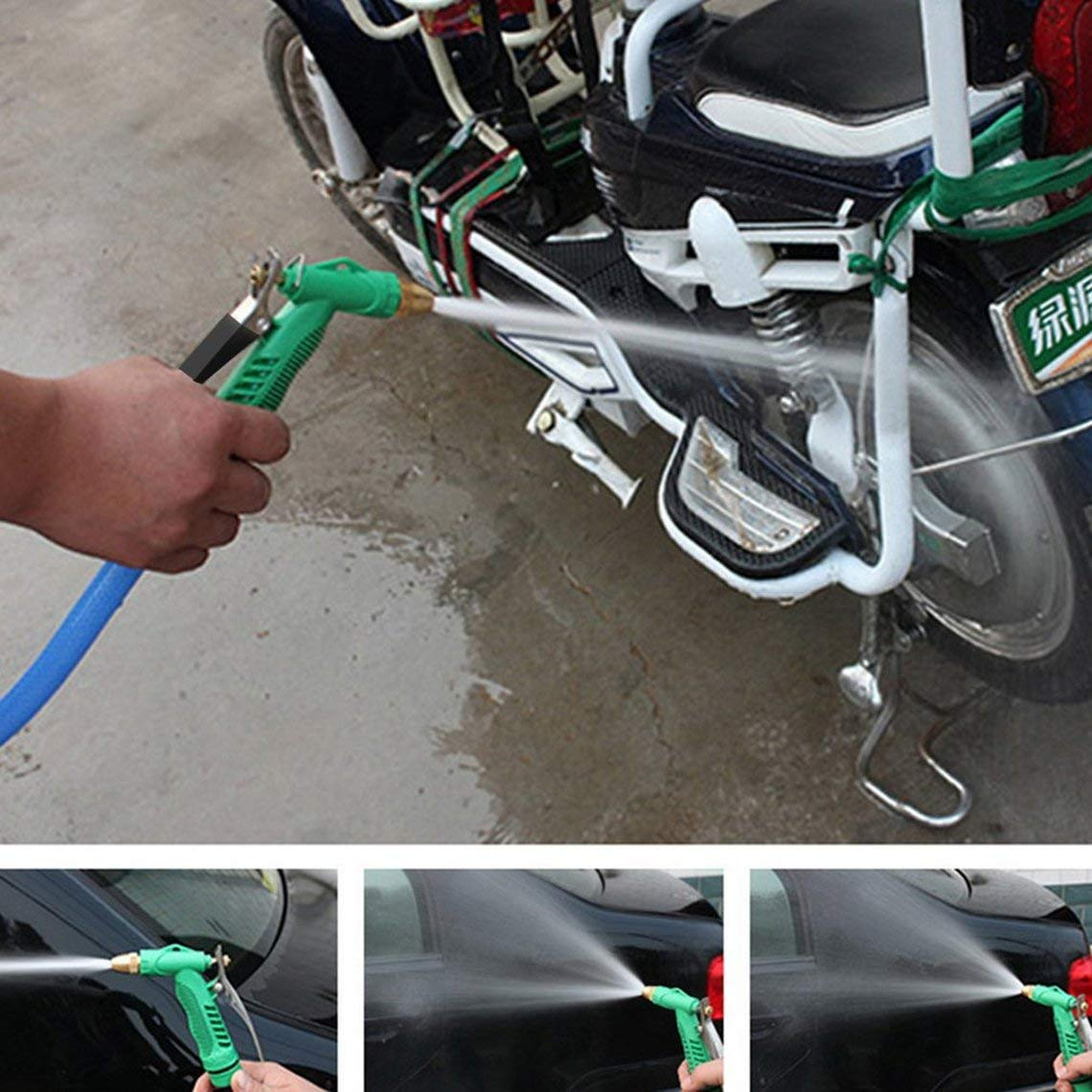 Zinniaya NewCopper Regolabile ad Alta Pressione per Auto Lavaggio Pistola ad Acqua Testa Giardino Lavatrice Pulizia Macchina utensile Accessori