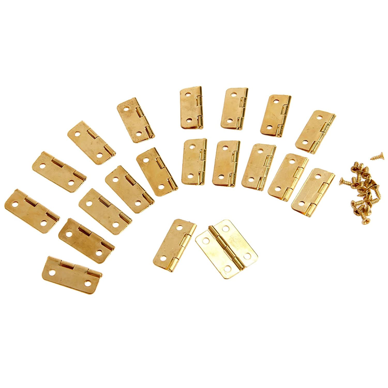 4Pcs 0.94x 0.71 Mini Metal Hinges Jewellery Box Tiny Trinket Miniature Furniture Cabinet Hinges
