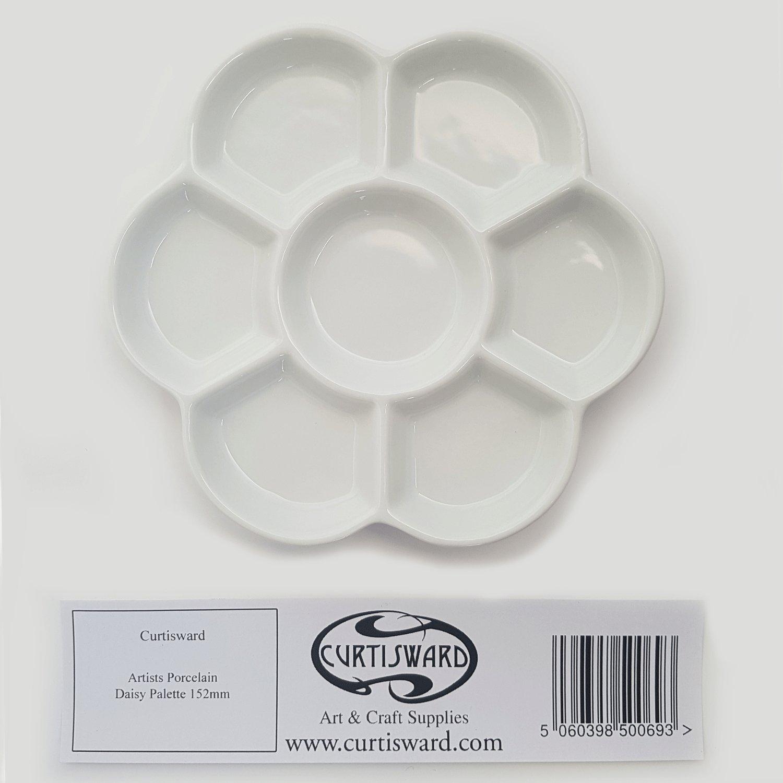 curtisward artisti classico bianco in porcellana Daisy tavolozza.