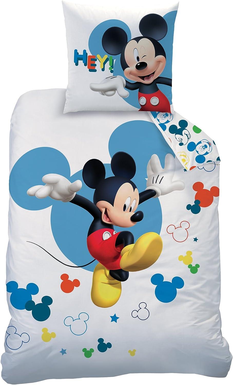 Disney Mickey - Juego de Ropa de Cama, 100% algodón, Blanco, 140 x ...