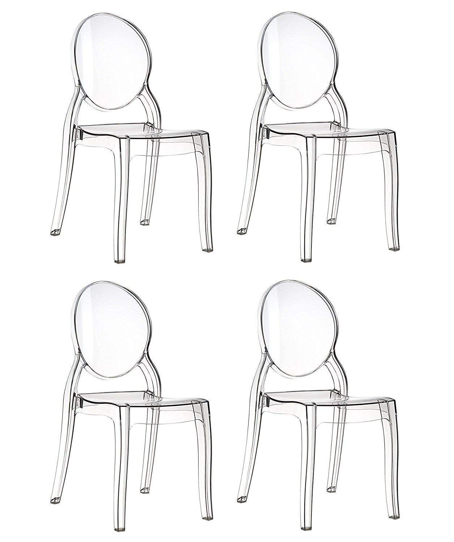 4 sillas de policarbonato