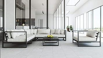 Artelia Matteo L Luxus Loungemöbel Set Großes Gartenmöbel Set Für Terrasse Garten Und Wintergarten Terrassenmöbel Schwarz