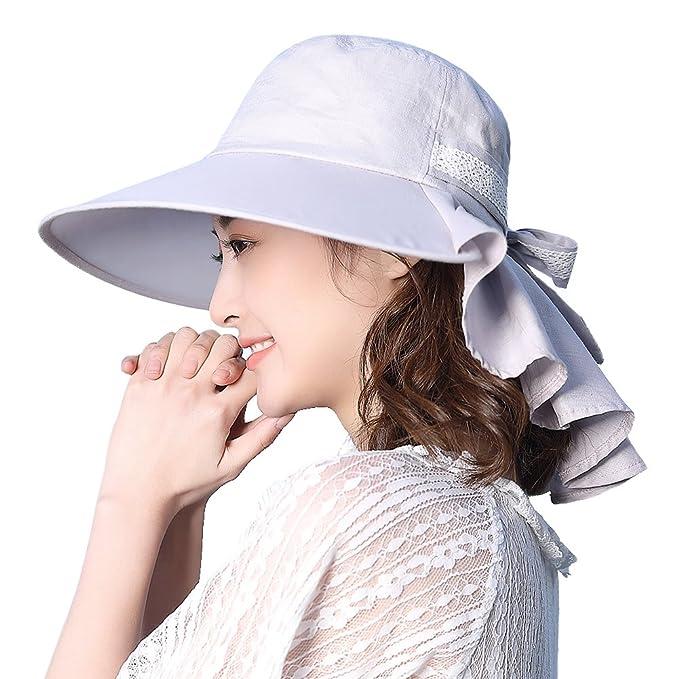 05132b14e0ba4 Womens Sun Protection Hats Summer Gardening Fishing Hiking Shade Hat SPF 50  Wide Brim Packable Large XL Gray Siggi  Amazon.ca  Clothing   Accessories