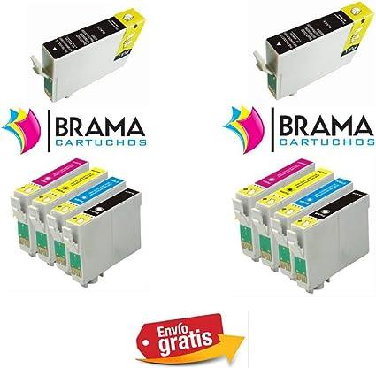 Bramacartuchos - 10 X Cartuchos compatibles NON OEM para Epson ...