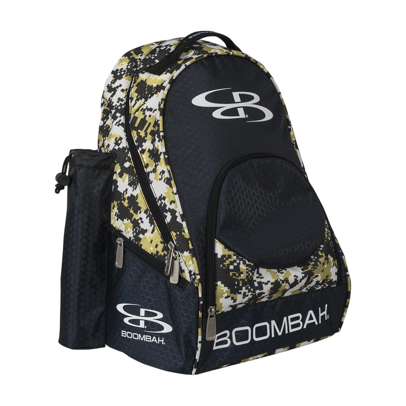 (ブームバー) Boombah Tyroシリーズ 野球/ソフトボールバットが収納できるバックパック 20x 15x10インチ 迷彩柄 20色展開 2-3/4インチまでのバットを2本収納可 B01MTU9Z6H ブラック/ベガスゴールド ブラック/ベガスゴールド