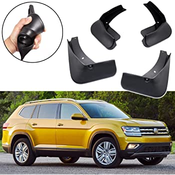 Vw Volkswagen Atlas Rear Matte Black Finish Splash Guards Mud Flaps Outlet