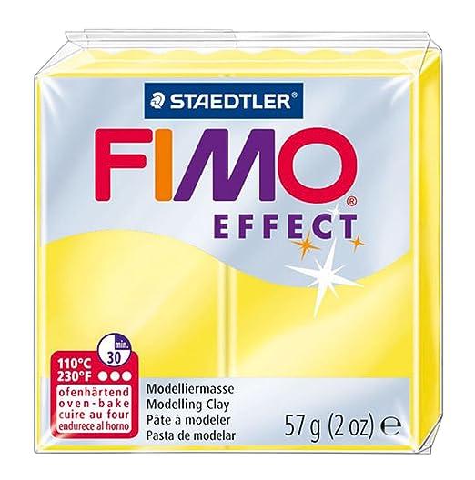 32 opinioni per Staedtler Fimo Effect 8020-104 Argilla 56g- Giallo Traslucido