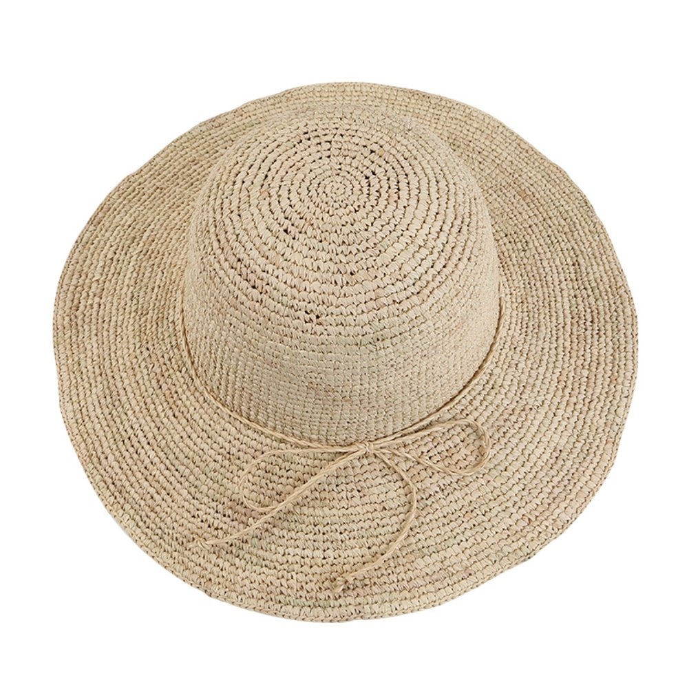 A KYWBD Lady Straw Hat,Foldable Tourism Cap Sun Visor Big Has